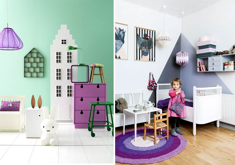 pantone ultra violet in kids rooms