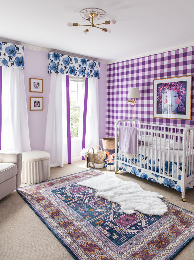purple in kids room