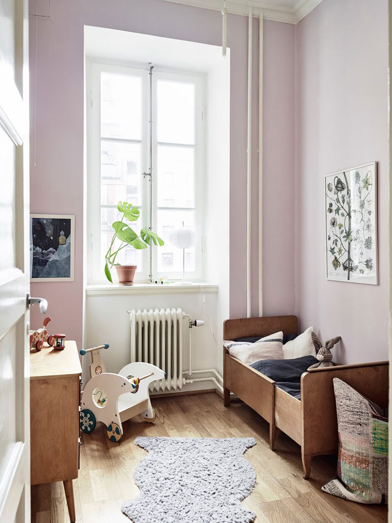 pink walls girls room