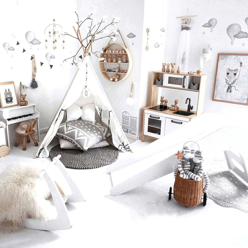 wintery kids room