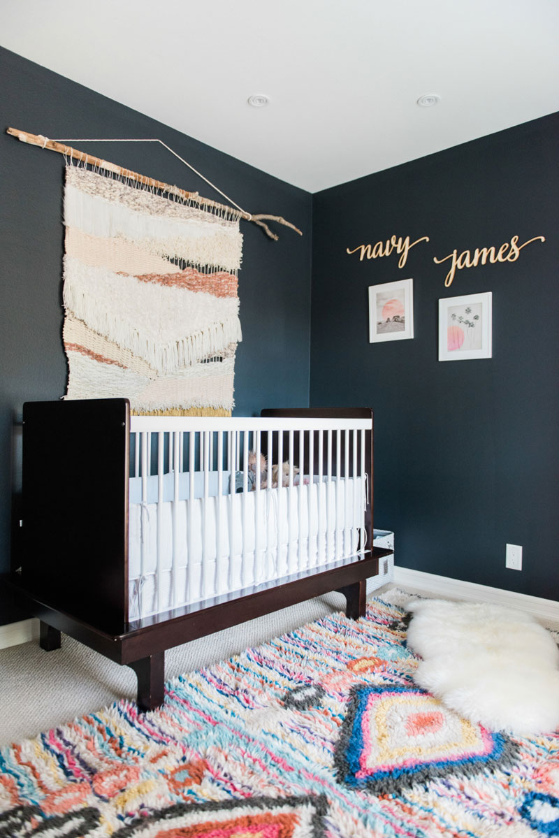 dark walls nursery