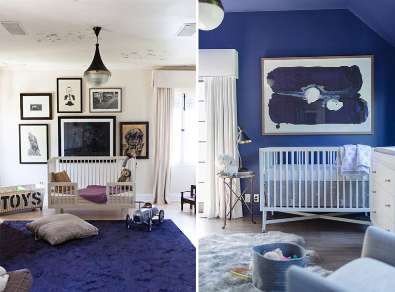 blue kids nursery decor