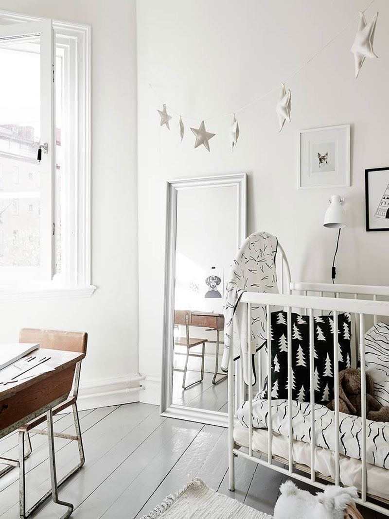 white wintery nursery