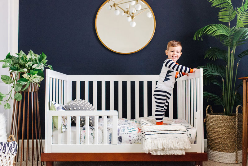 navy blue nursery