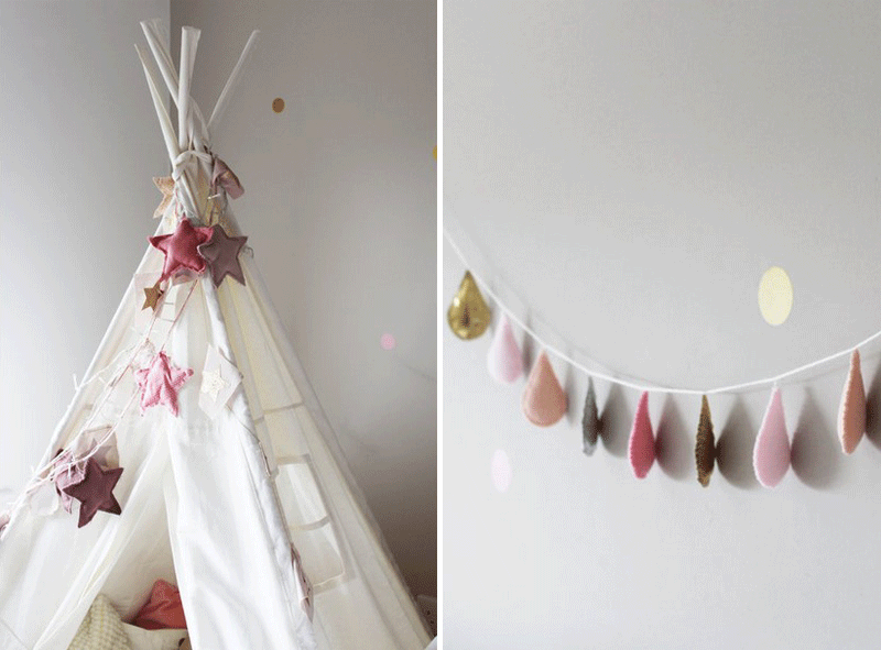 tipi and garland