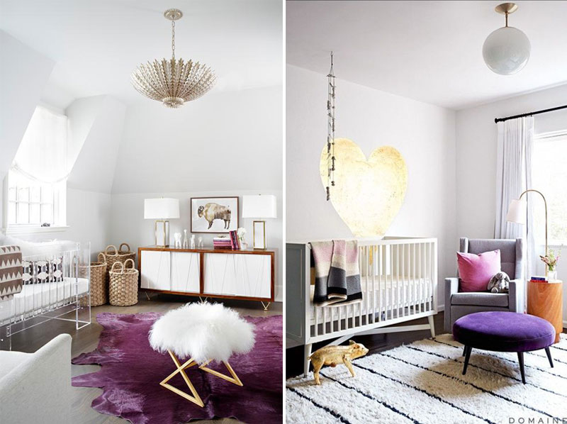 purple in nursery rooms