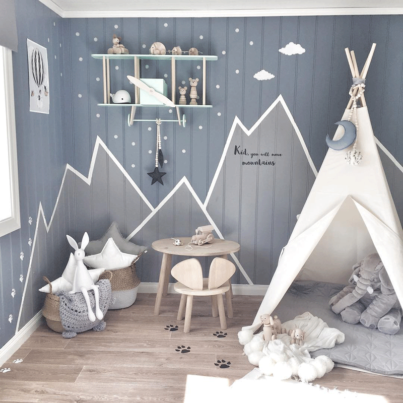 mountain peaks kids room