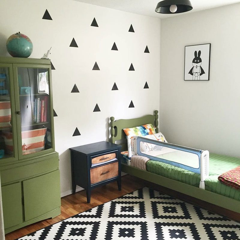 Forest Green Boys Room