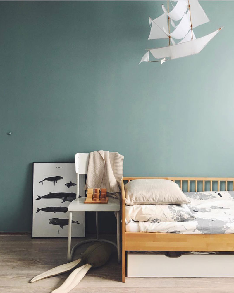 bluish green in kids room
