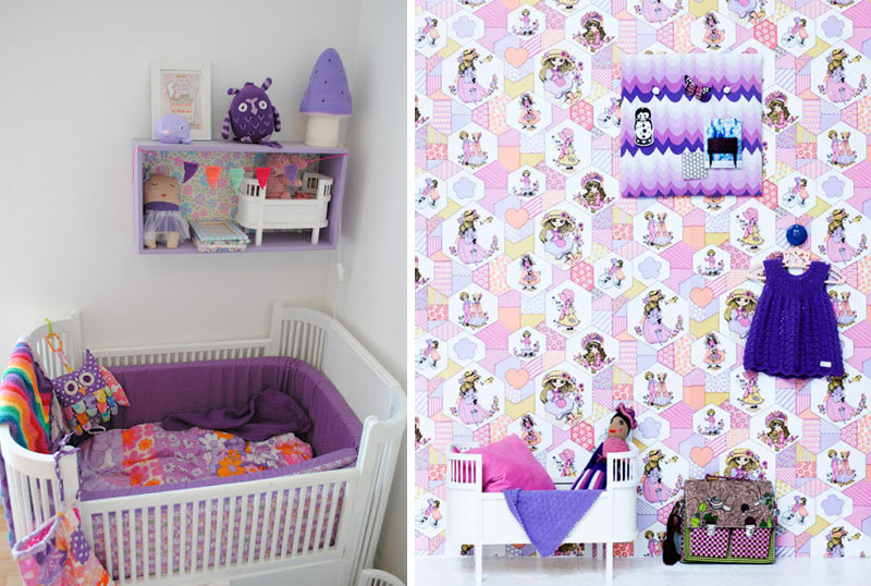purple in baby nurseries