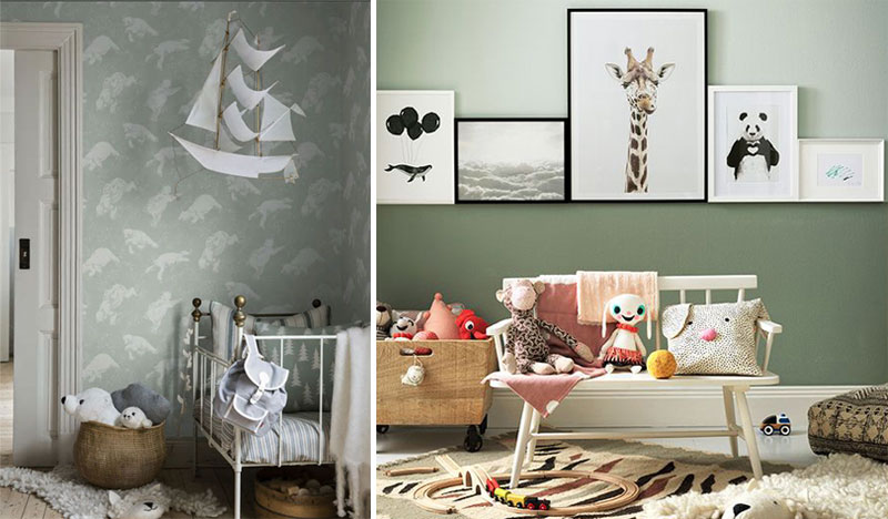 green childrens interiors