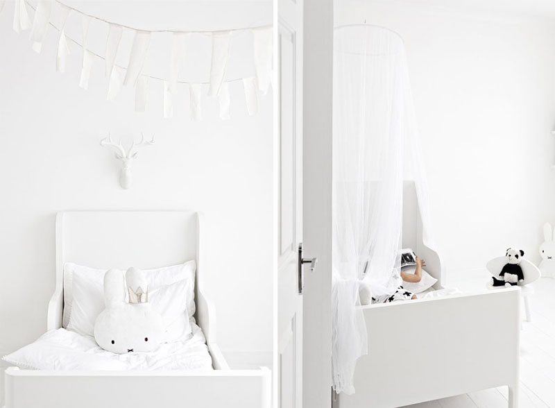 all-white kids rooms