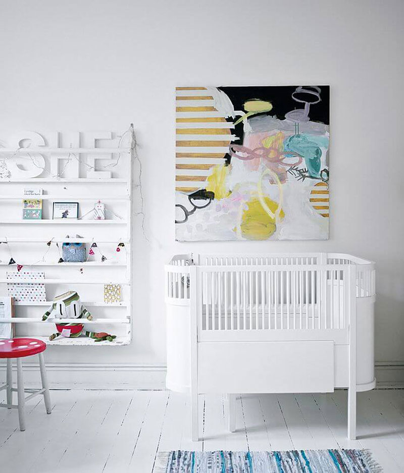 nursery with modern art