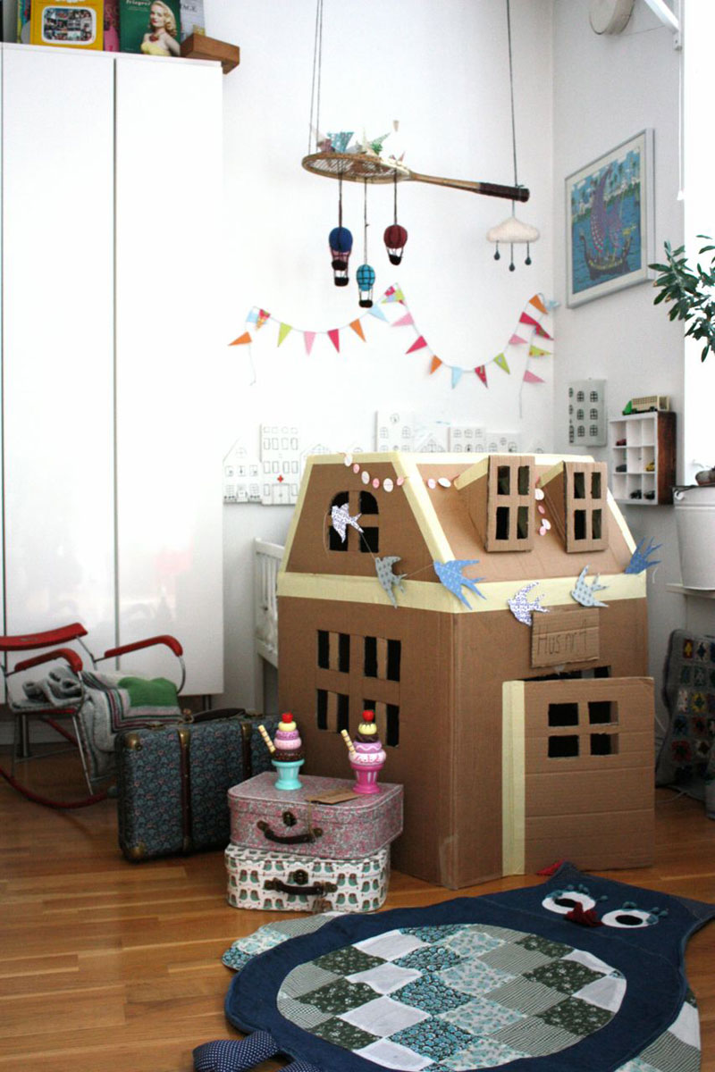 cool cardboard playhouse
