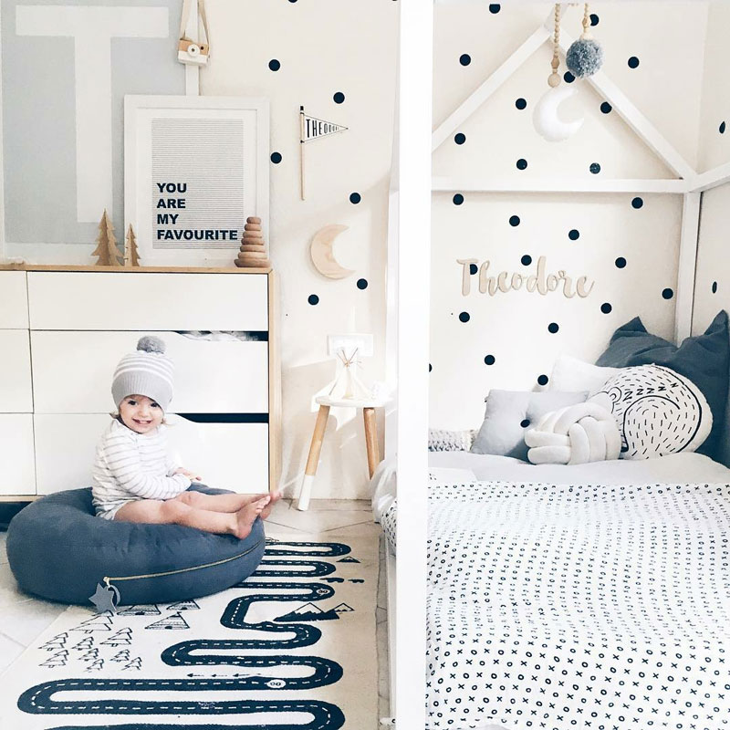 nursery with dots