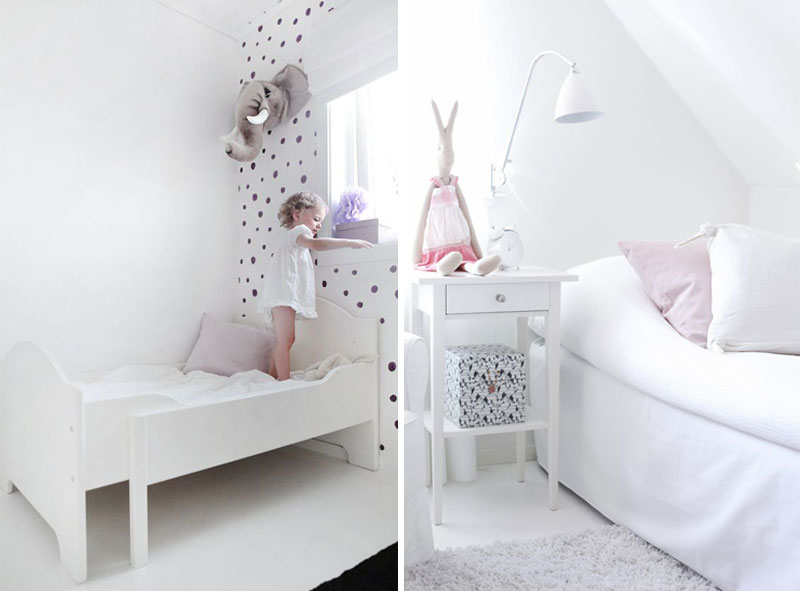 white wallpaper with dots