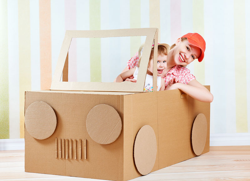 vehicle cardboard toy