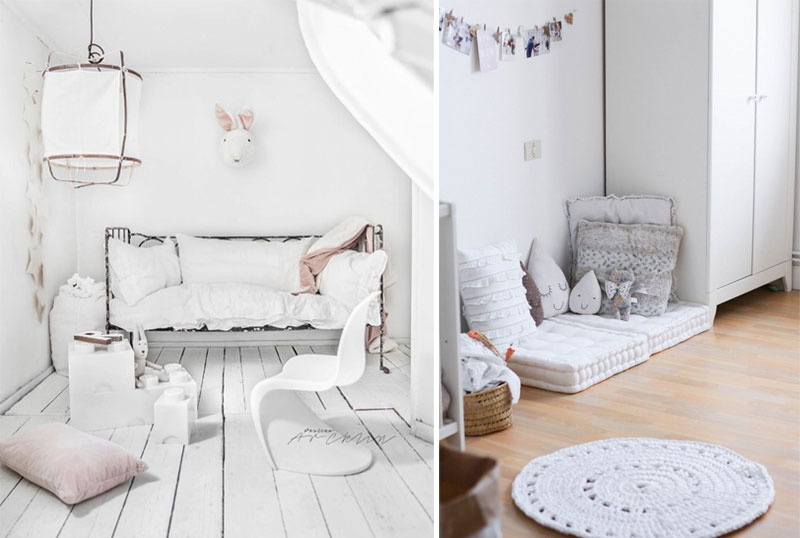 white decor childrens rooms