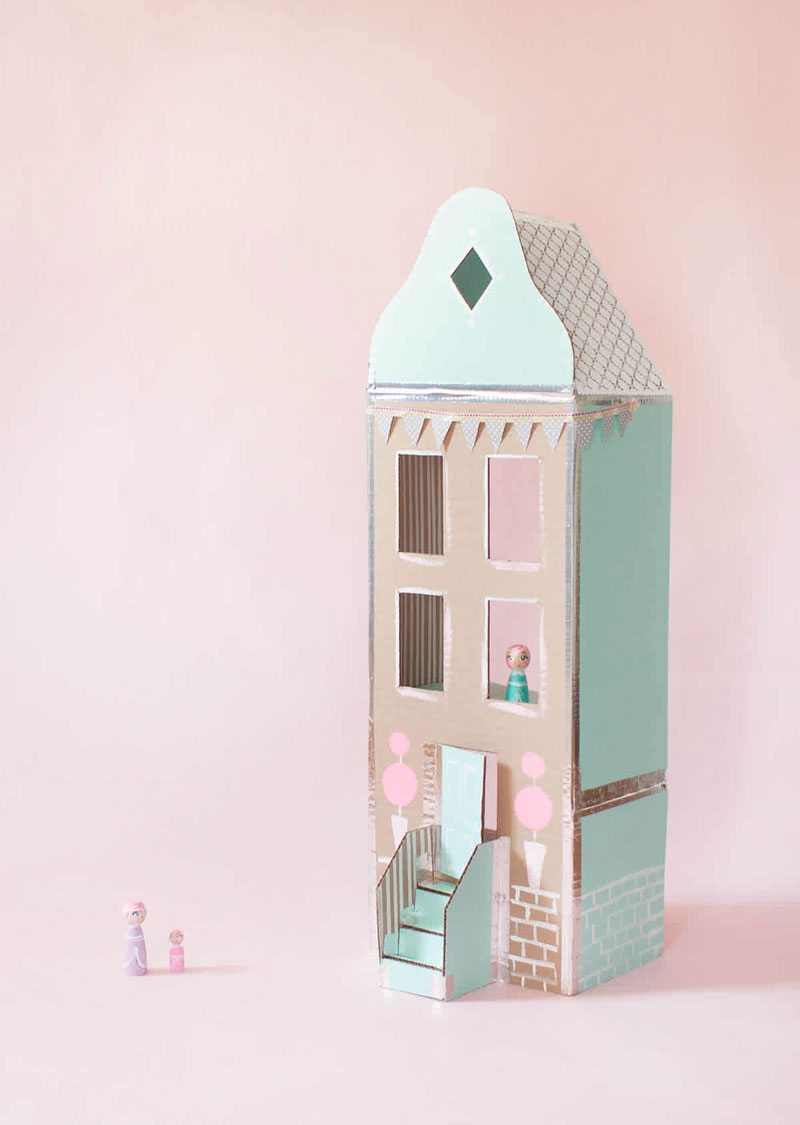 pastel diy dollhouse