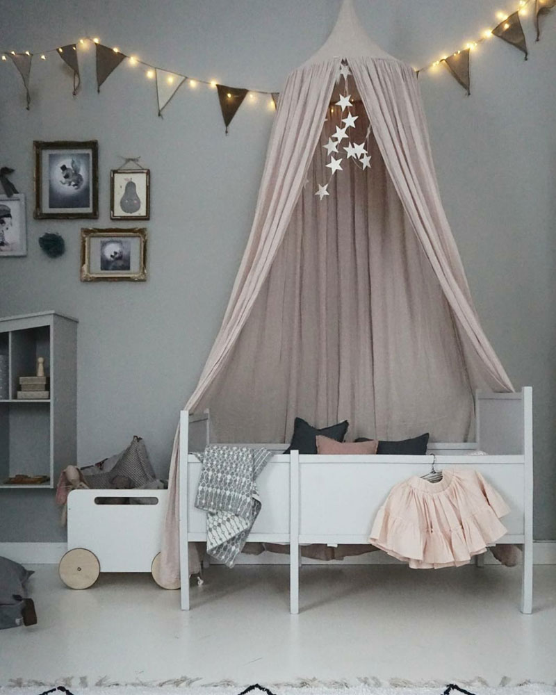 dusty pink canopy nursery
