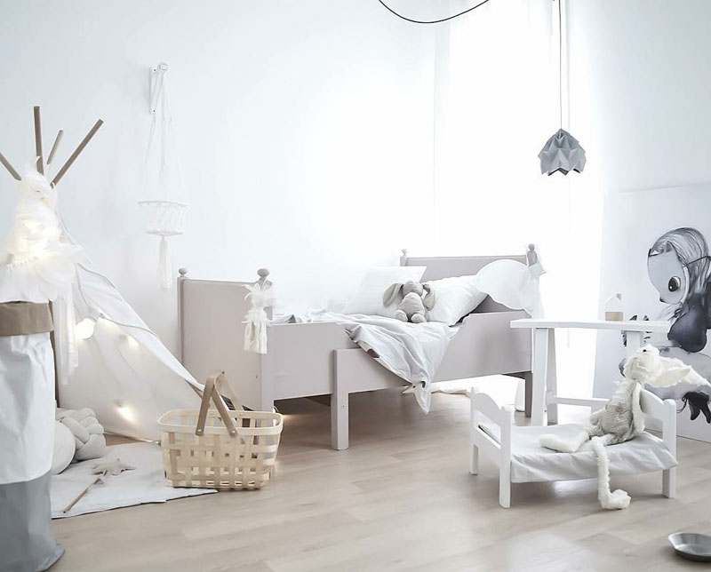 white childrens room