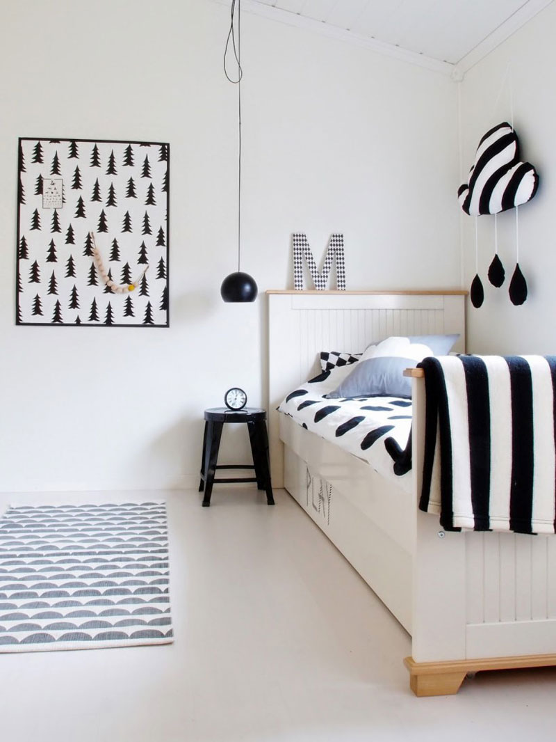 patterned design kids room