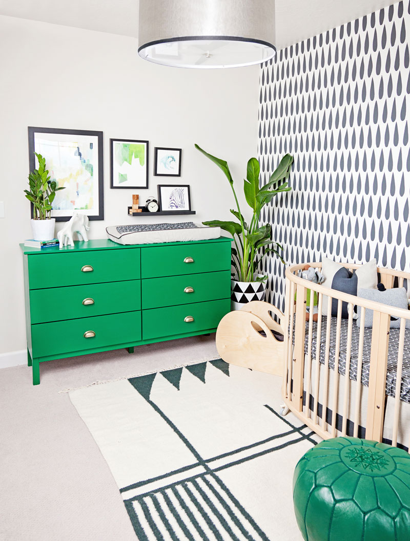 green and black nursery