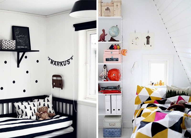 graphic patterned kids bedding