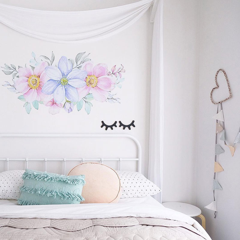 kids floral wall decor