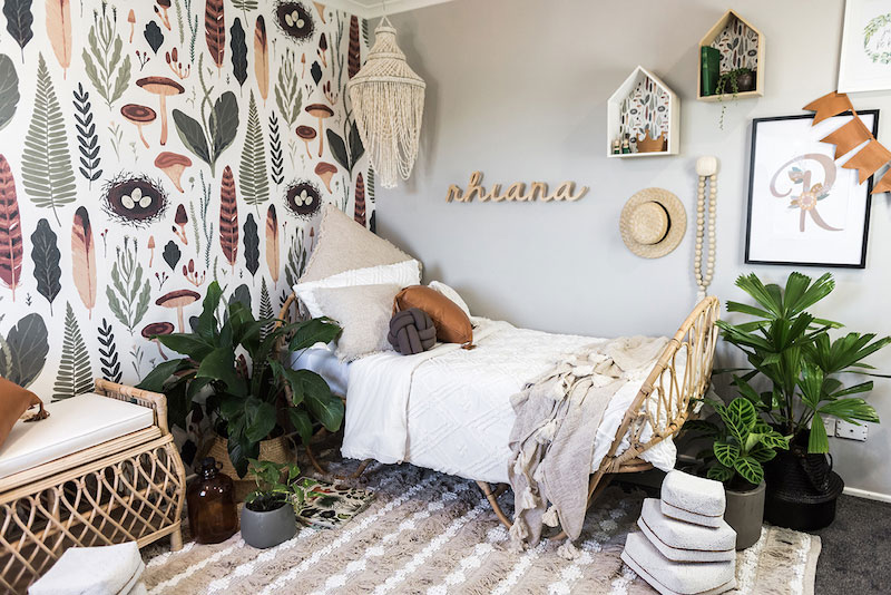 earthy natural girls room