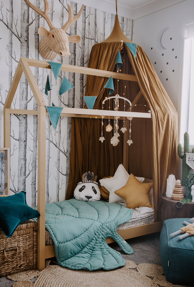 enchanted forest themed toddlers room