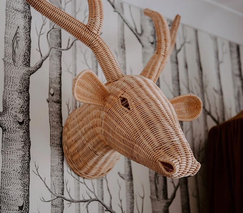 rattan animal trophy