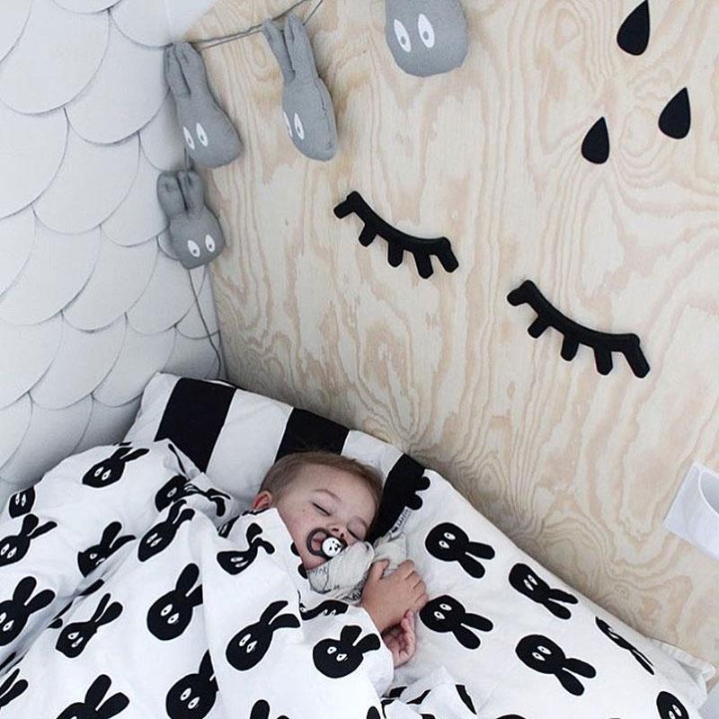 monochrome kids bedding