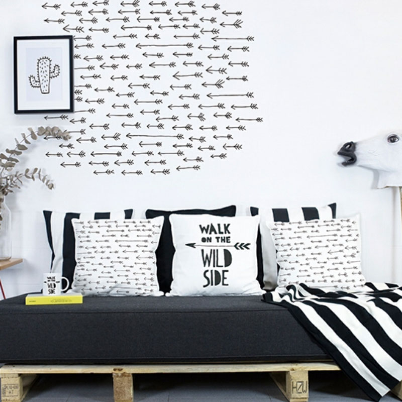 black arrow wall decals