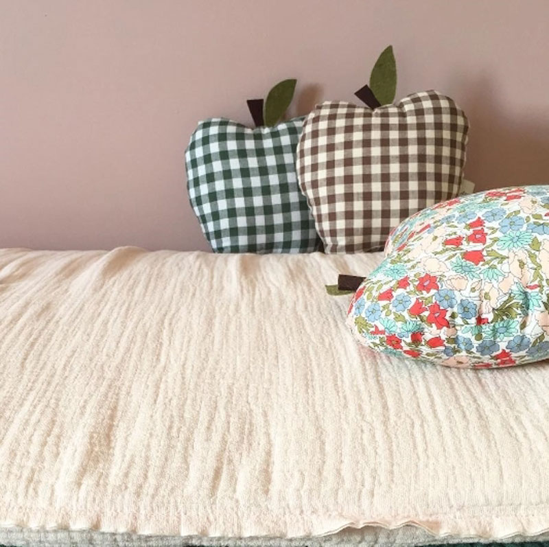 chequered apple cushions