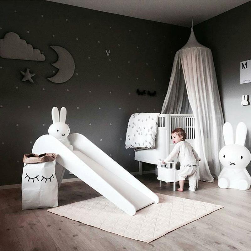 slide in nursery room