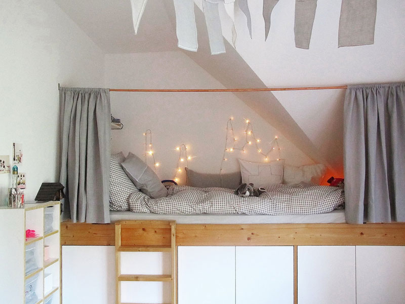 hide in sleeping area