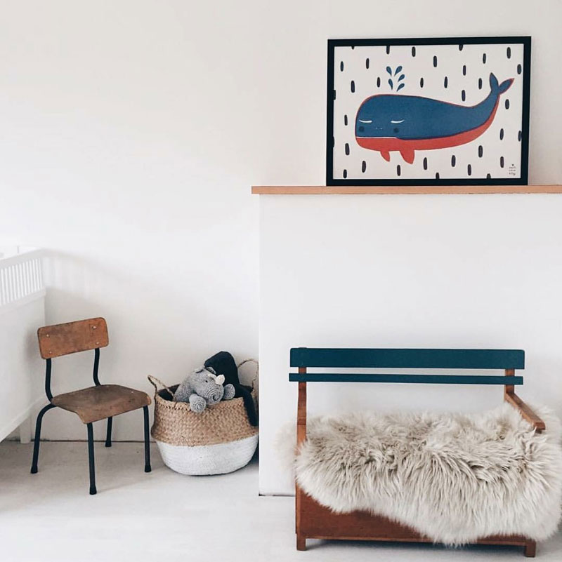 blue and red kids room