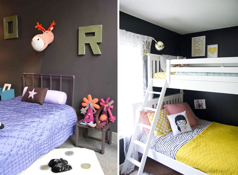 dar grey walls kids rooms