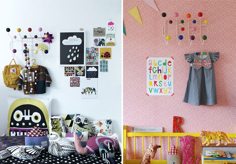 fun wall hooks for children