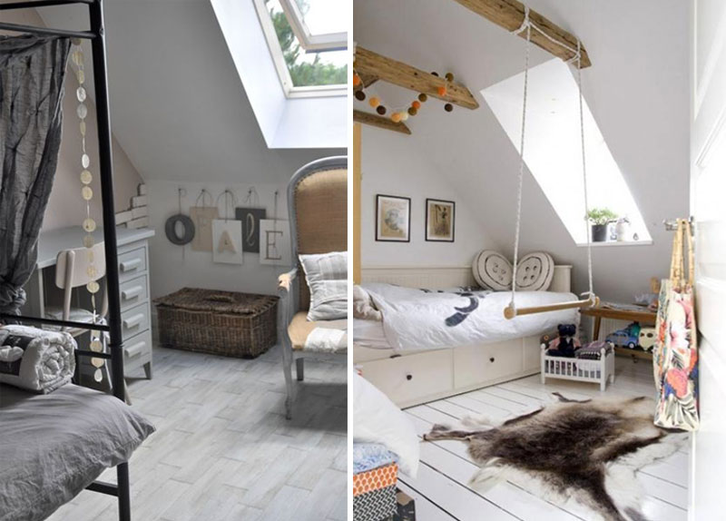 swing in attic