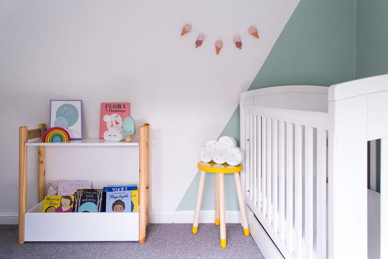 interesting paint effects nursery room