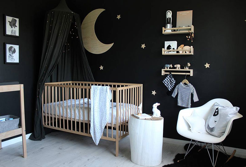 black nursery room