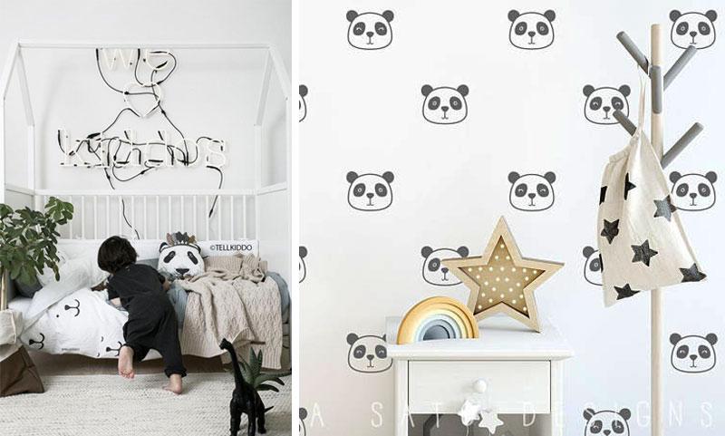 panda design in childrens rooms