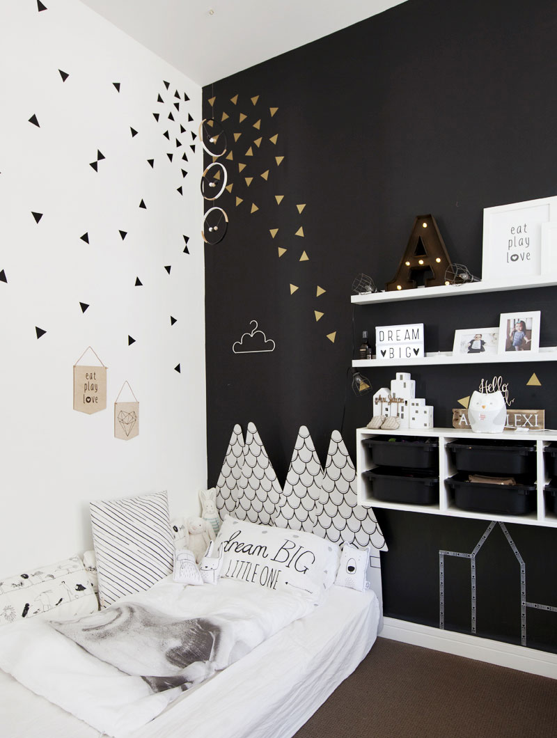cool headboard kids room