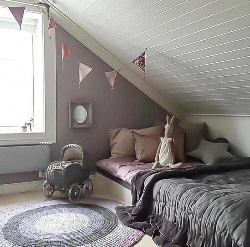 slanted ceiling childrens room