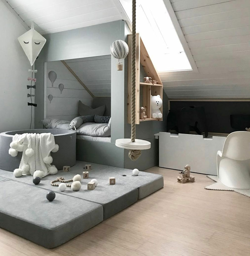 How To Create A Stylish Attic Kid S Room
