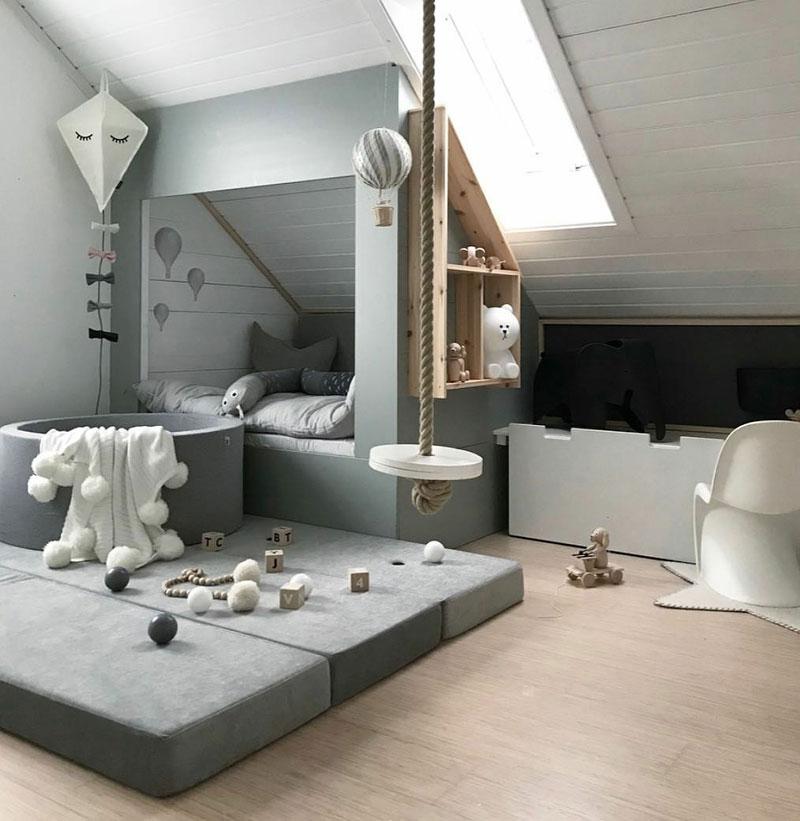 cosy attic kids room