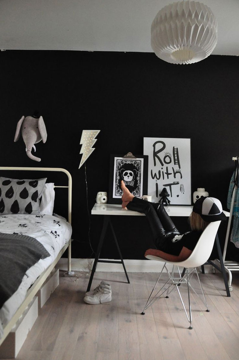 black in kids room