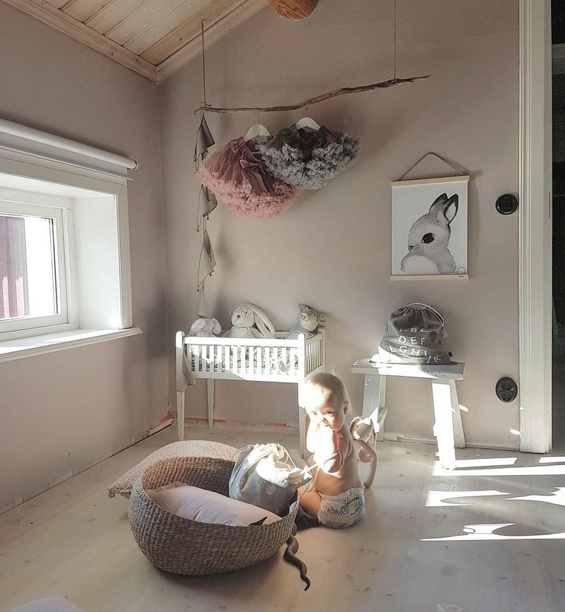 hanging tutus in a girl's room